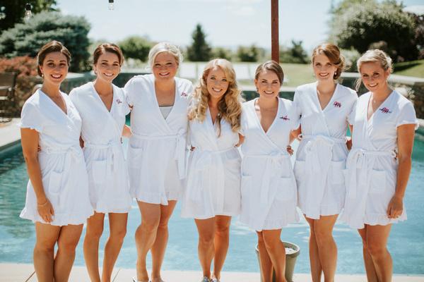 bridesmaids bathrobes