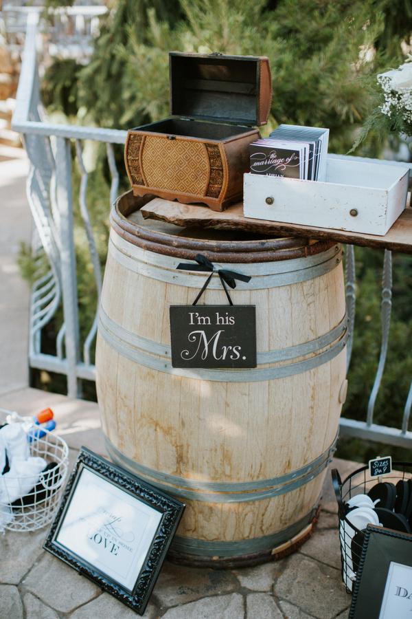 wine barrel wedding