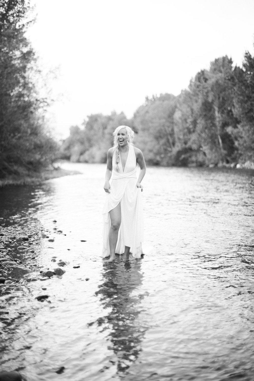 black and white bride Boise River