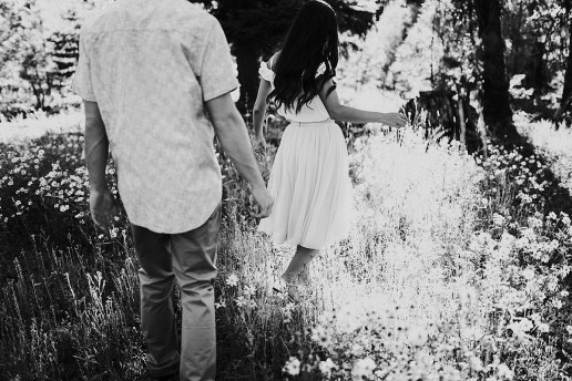 black and white McCall Forrest engagement