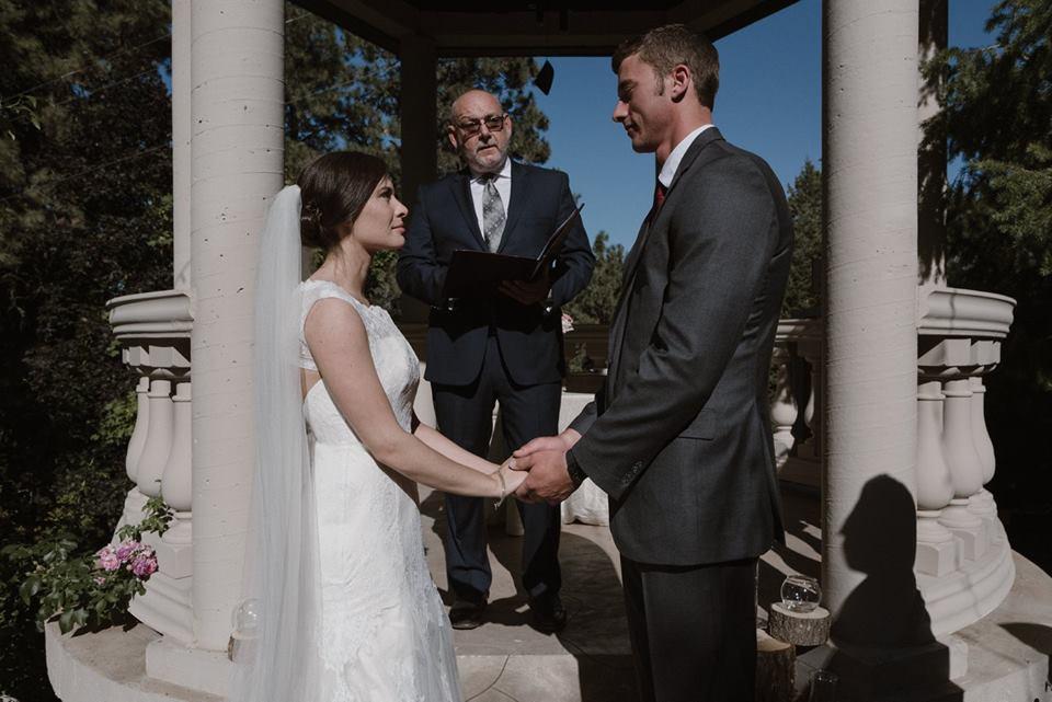 bride and groom Moscow Idaho