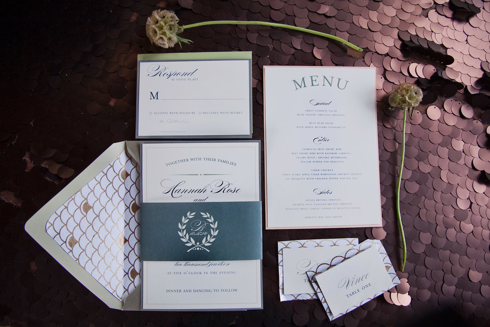 Wedding Invitation Suite by Paperie and Pen
