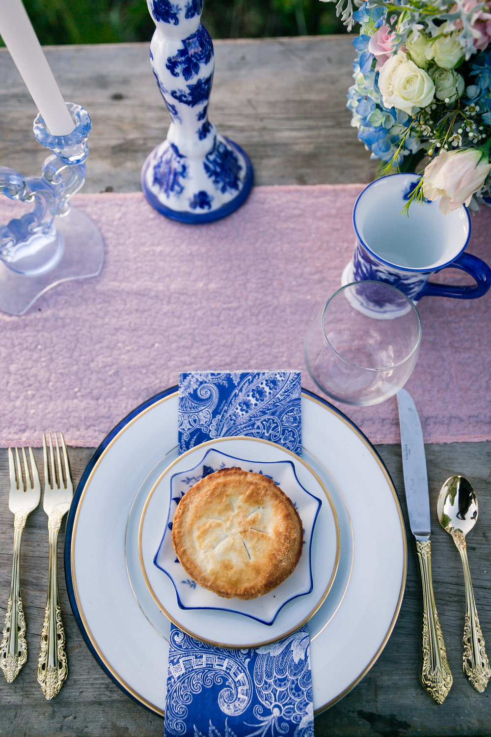 Blueberry pie wedding