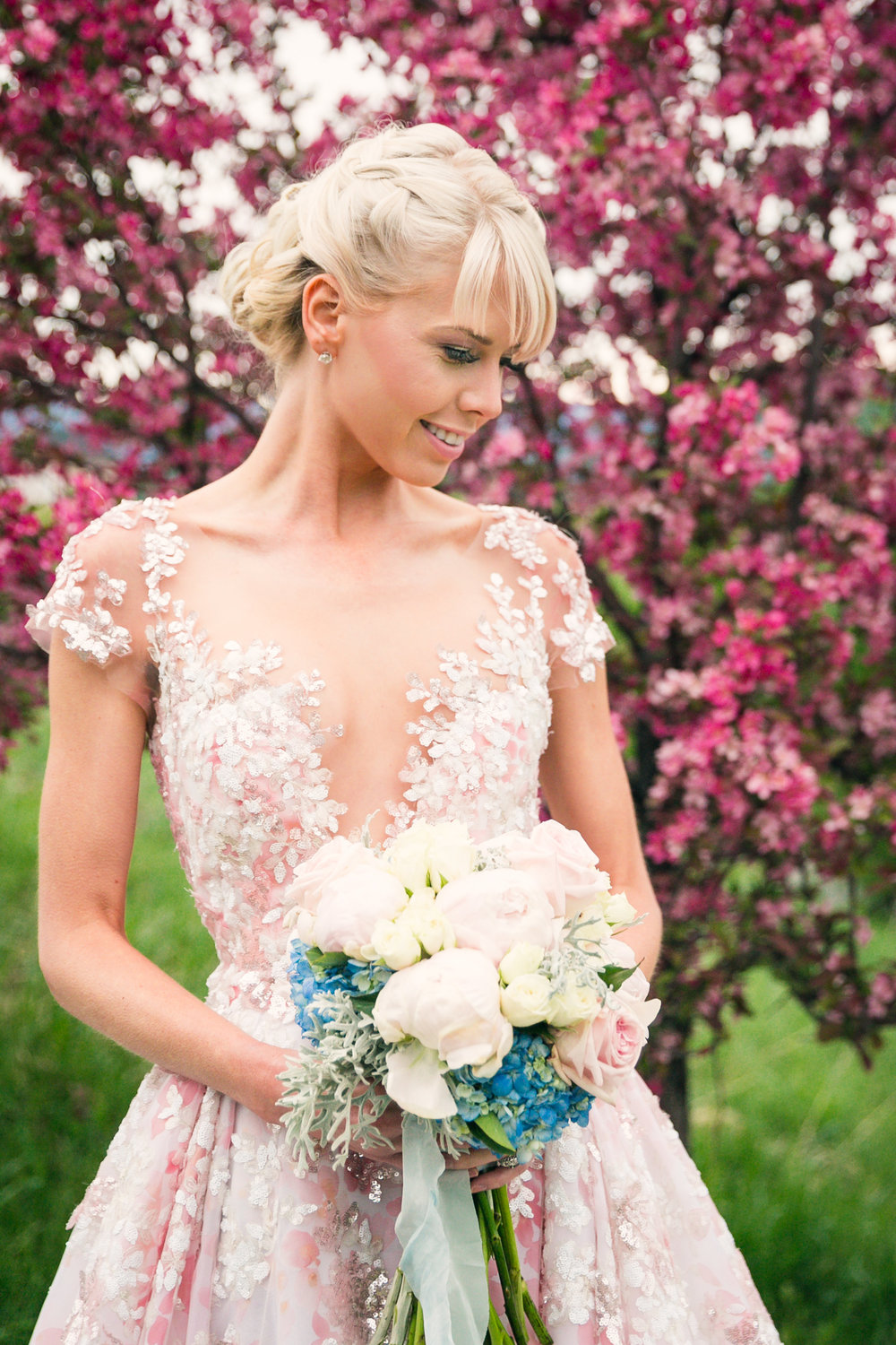 Ysa Makano Pink Wedding gown