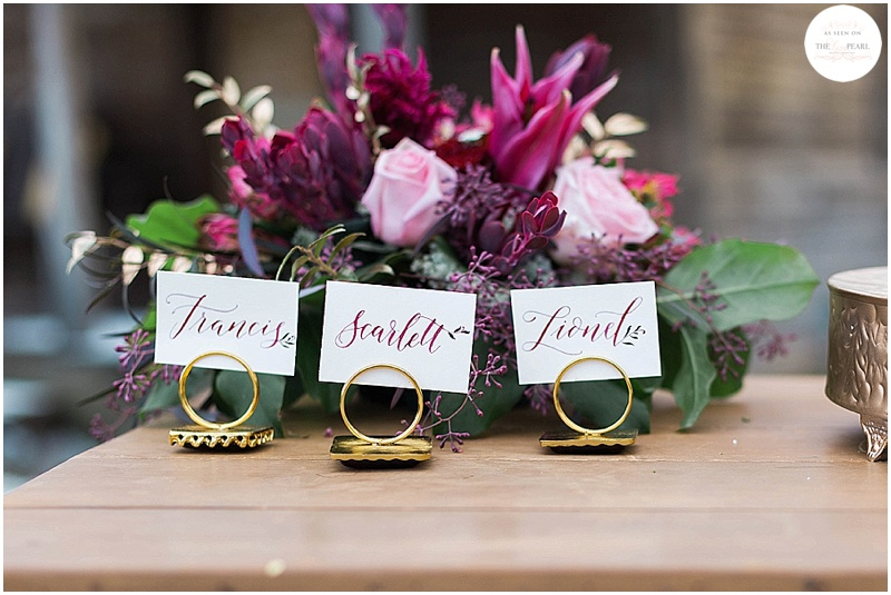 Floral placecards