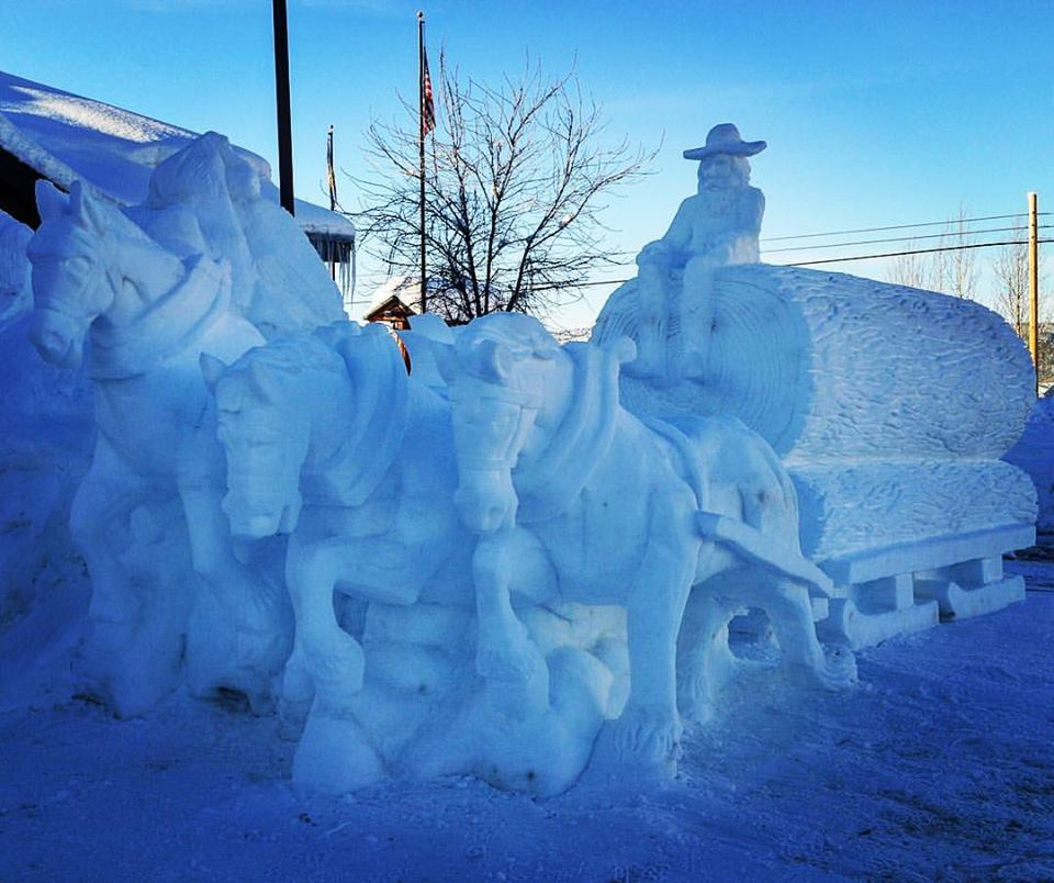 One of my favorite #wintercarnival snow sculptures this year. #mccall #snowsculpture — in McCall, Idaho.