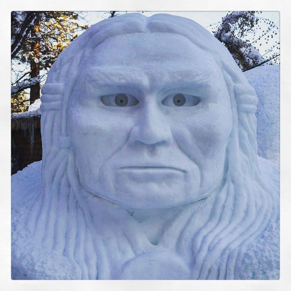 My number 1 pick for this year's #wintercarnival#snowsculpture. So cool! — in McCall, Idaho.