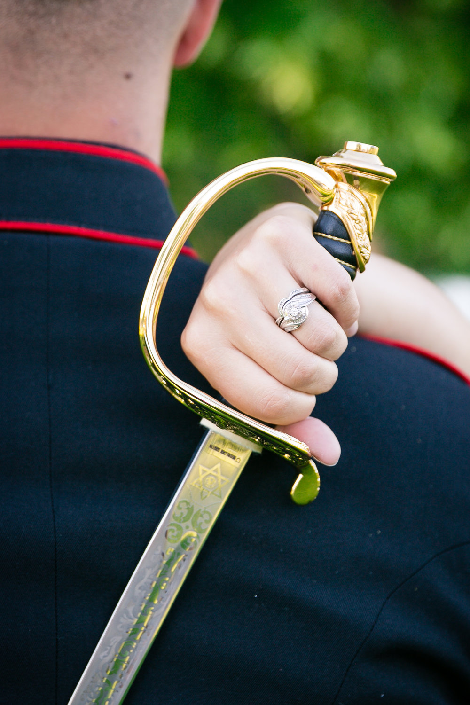 military sword idaho wedding