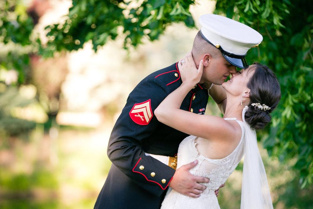 The kiss at an Idaho Wedding