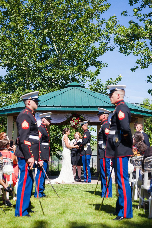 military ceremony Idaho