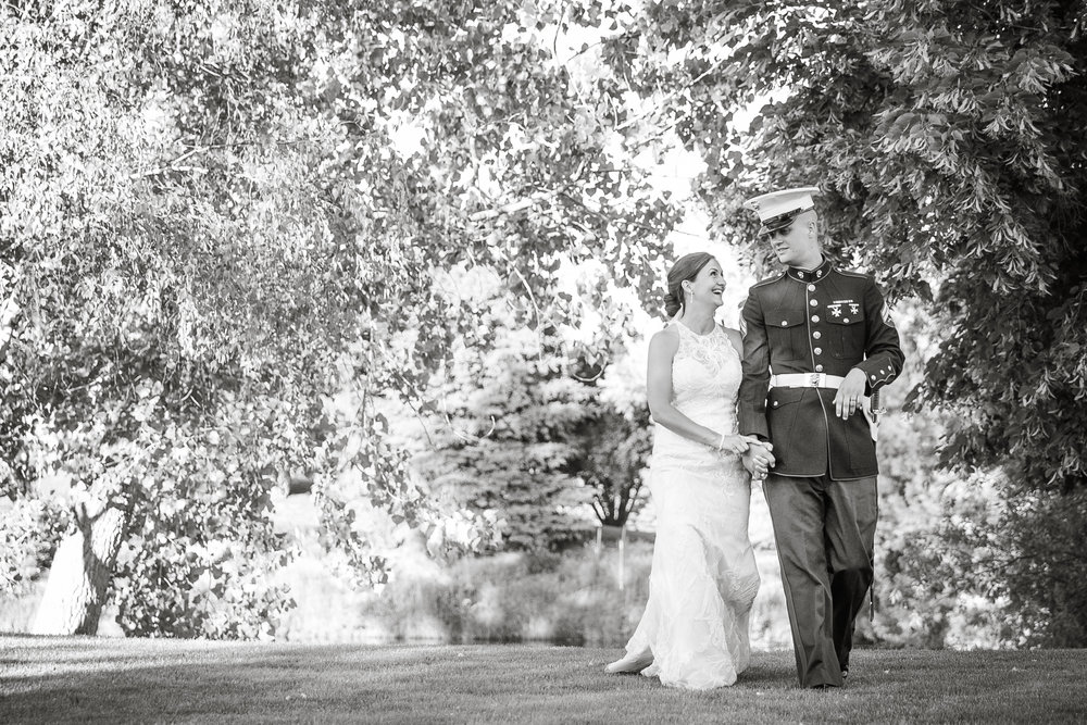 idaho military wedding