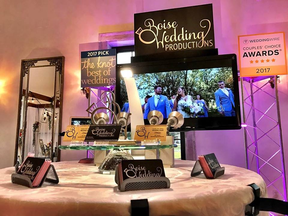 boiseweddingproductionsCome say hello! We are at the The Chateau des Fleurs for their ONE DAY wedding show! Show goes until 4pm and then the fashion show and fancy fancy party are from 6-10pm come say hi! #boiseweddingproductions#SayIDoWithBWP #weddingvideo#boisewedding #weddingfilm