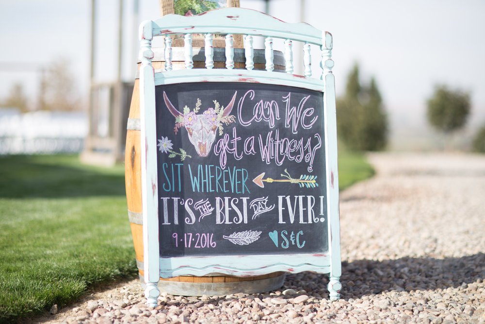 Idaho wedding signage