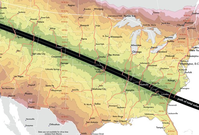 map of the eclipse