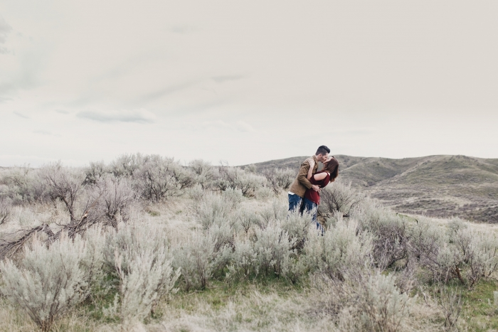 Boise foothills engagement session