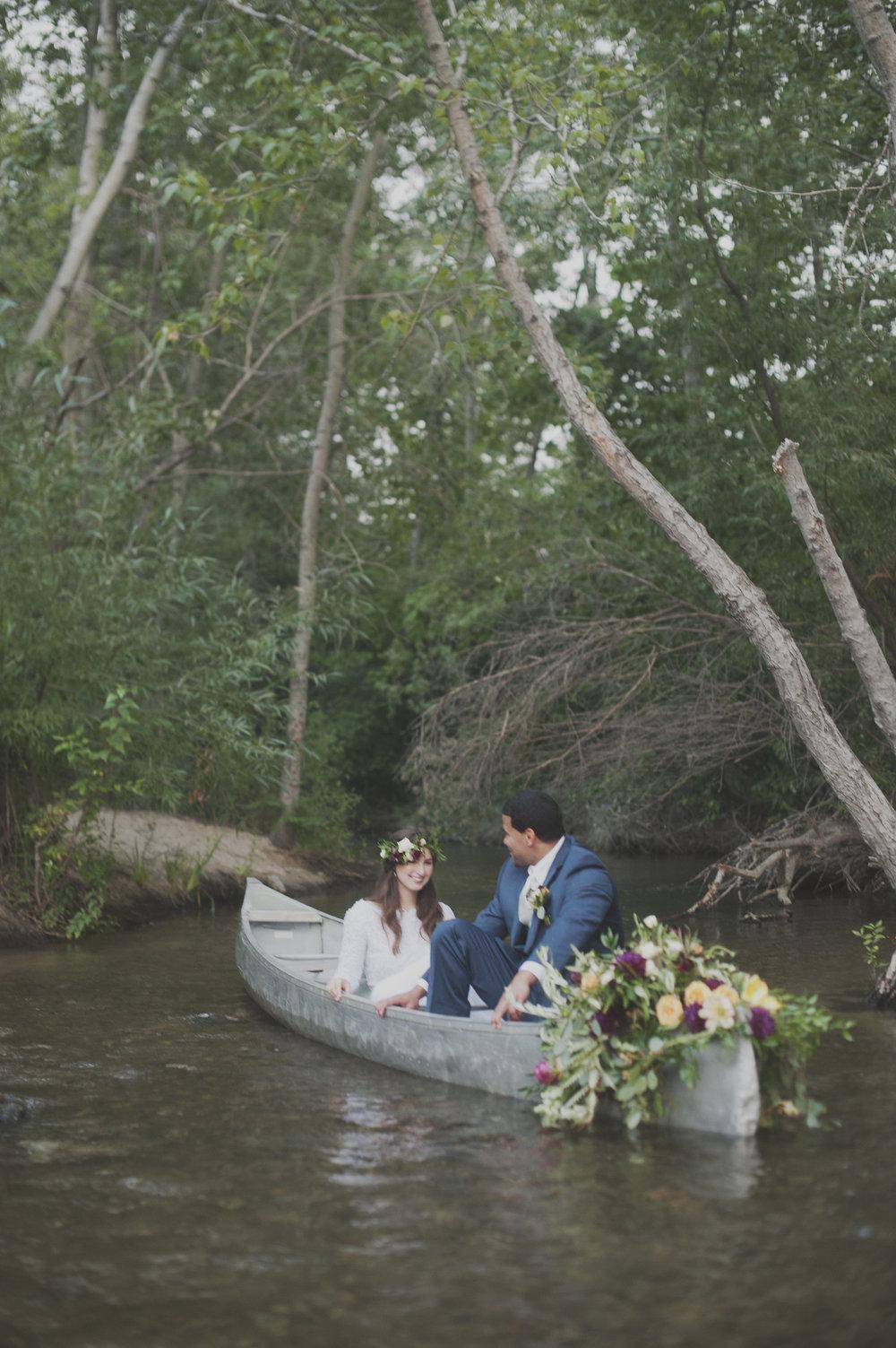 Boise River Float Wedding