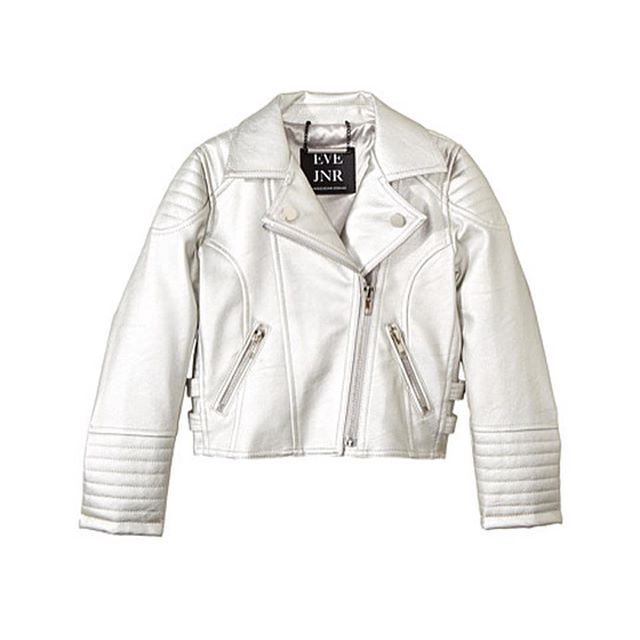 Silver Moto Jacket? Yes! This color and more available now on @zapposluxury #goshop #veganstyle  #evejnr  #kidstyle ✨#minigemagency #kidsfashion #kidswear #styleyourmini  #iloveplaytime #childrensclothing #childrensboutique #childrensclub  #styleyourmini #minilicious  #trendykiddies