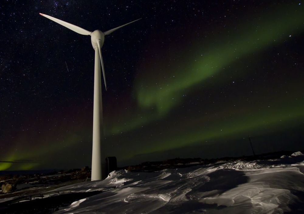 Figure 7. A wind turbine at Mawson base in Antarctica Photo credit Australian Antarctic division