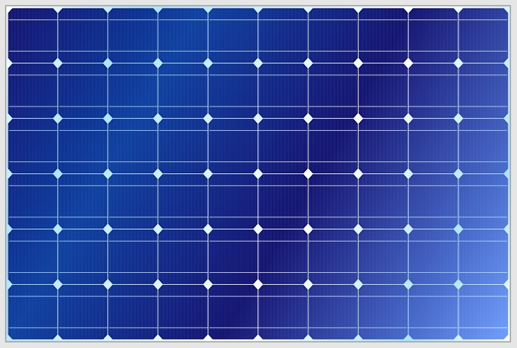 Figure 7: A solar panel is made up of solar cells connected in series to give a desired DC voltage.