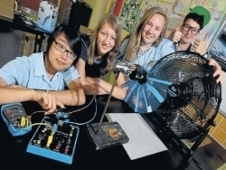 Corrimal High School Year 10 students, Melissa Leung, BrighidWalton, Eryn Chaseling and Raphie Burrett try.jpg