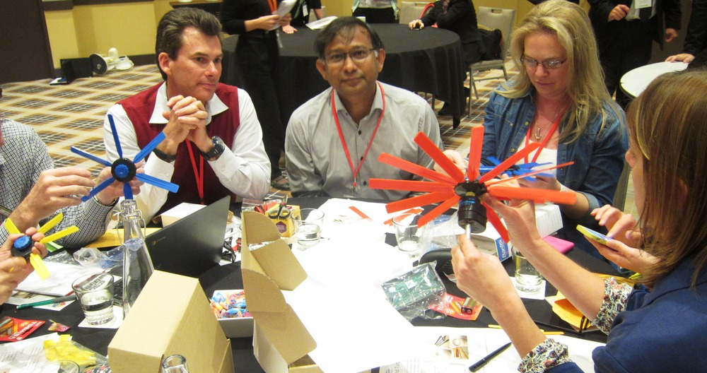 WorKshop participants designing turbine stands. Image: Pennie Stoyles