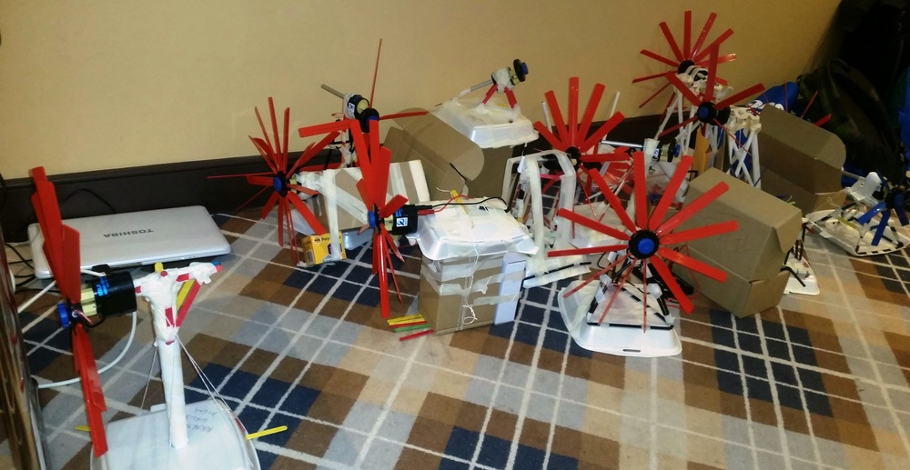Some of the finished wind turbine stands. Image: Pennie Stoyles