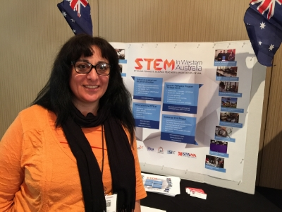 Diana Tomazos at the NSTA conference in Chicago. Image: Diana Tomazos