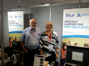 Peter and Pennie at the STELR display at CONASTA