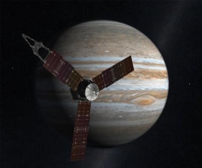 Artist concept of Juno     Credits: NASA/JPL-Caltech