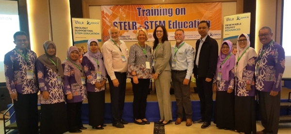 Presenters, Orica staff and teachers from Bontang.
