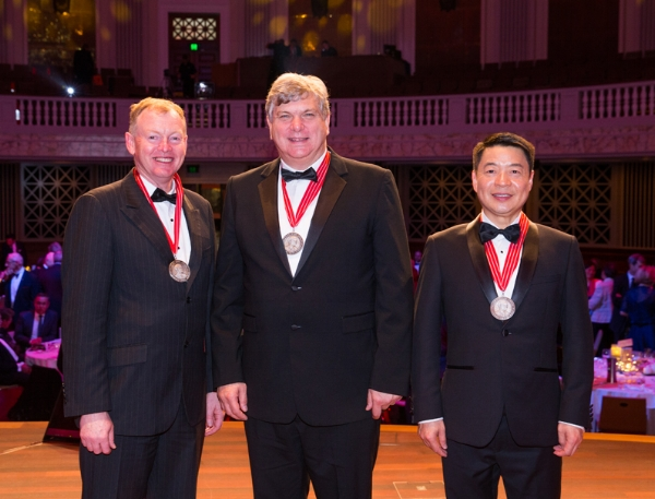 From left to right: Mr Darryn Smart, Prof Andrew Wilks  and Prof Mike Xie