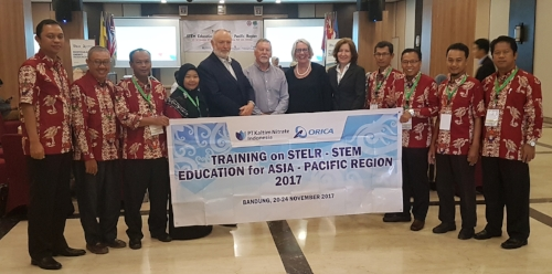 STELR presenters and teachers from Bontang, Indonesia