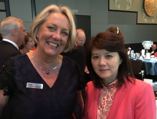 STELR Program Manager, Pennie Stoyles with Rose Amal at the Atse Innovation Dinner and Clunies Ross Awards, 2018