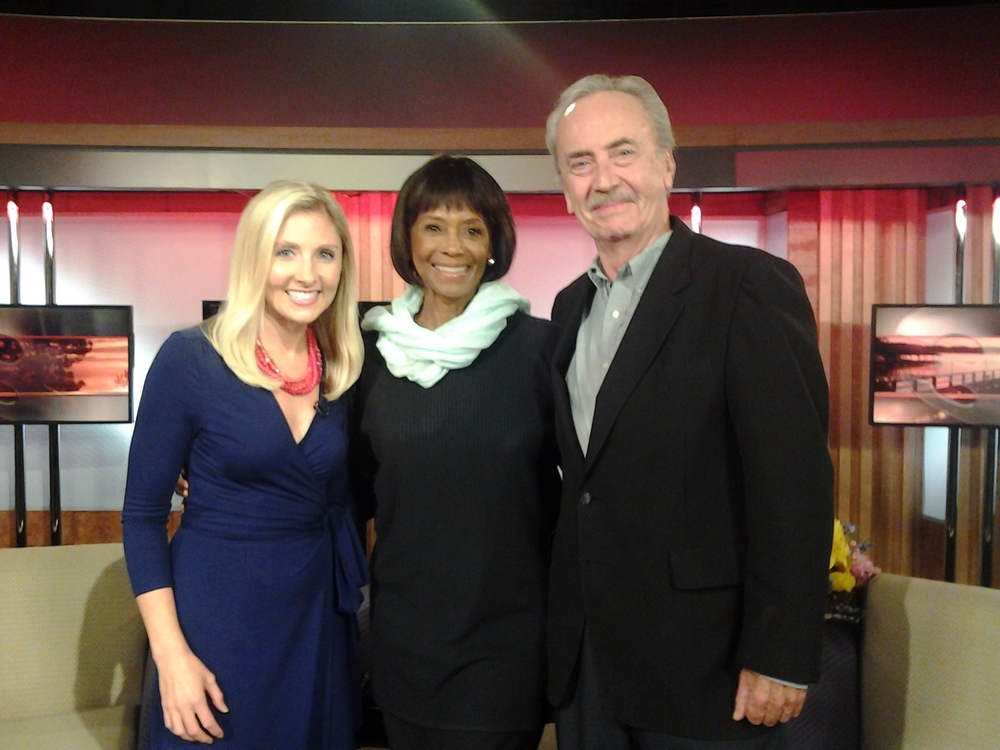 My co-star and I with the wonderful Carly Flynn Morgan of KTBS after our interview. She had such great spirit!