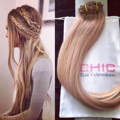 How to clip in hair extensions beauty guru if you have thick hair or want a very voluminous finish you can opt for 200g of hair they even have ombre clip ins for the balayage lovers among us pmusecretfo Image collections