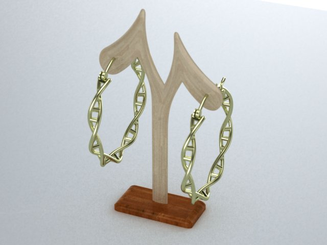 DNA hoop earings green.jpg