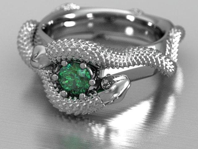 Snake Emerald white 3 blur.jpg