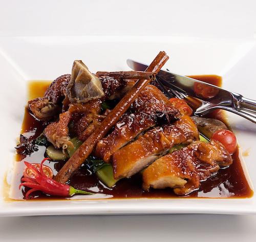 Roasted Duck in Plum Sauce