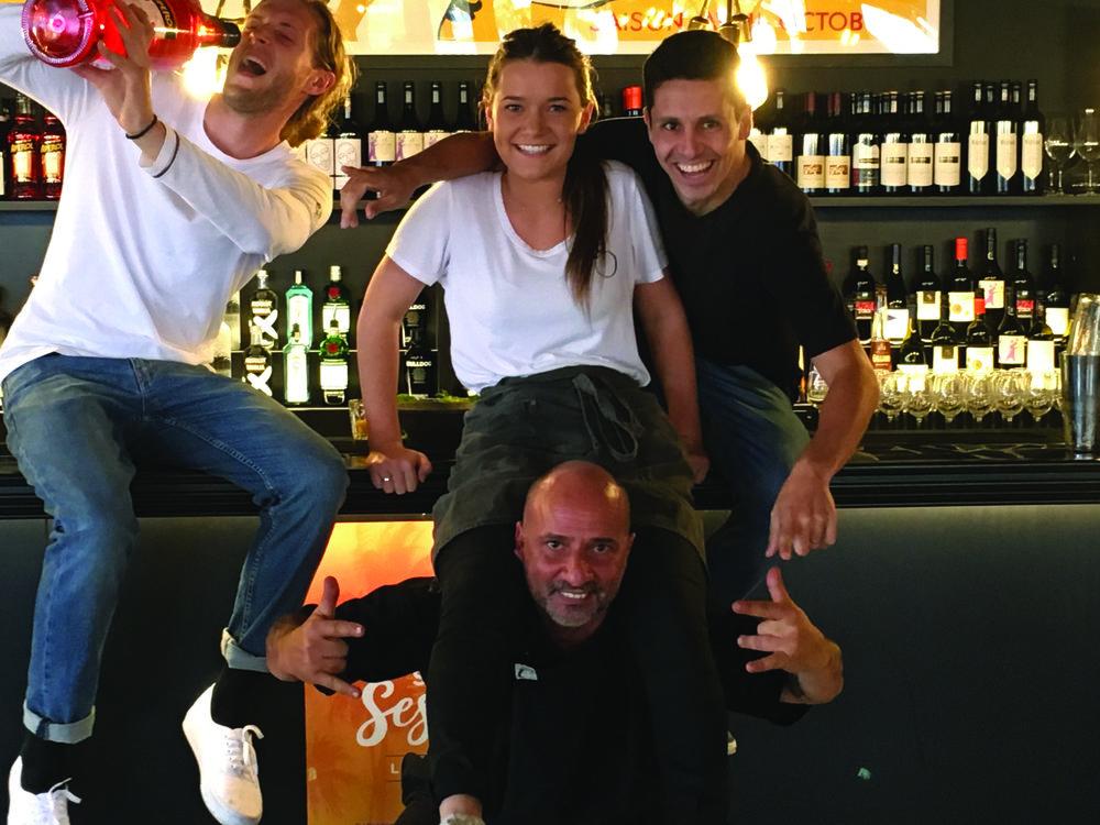 L to R: Matthew, Alana, Fabio & Chef Mimmo