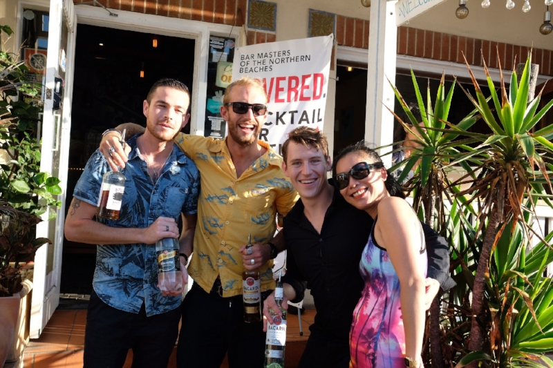 Hemingway's Manly  winners of the first round of COVERED. Cocktail Battles hosted at  Havana Beach .