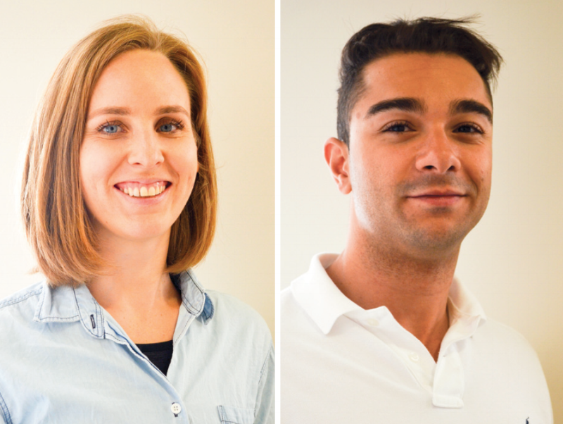 New chiropractors Pru Bolton and Bader Eldejany