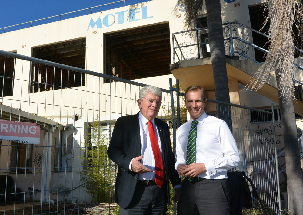 Northern Beaches Council Administrator Dick Persson AM and Pittwater MP Rob Stokes
