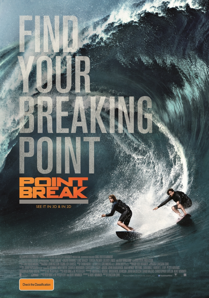 Point Break  (M) - 7:30pm  Tuesday 12 February