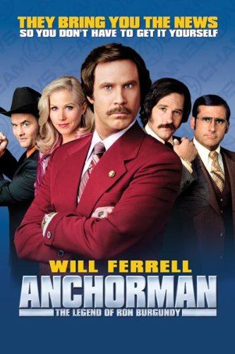Anchorman  (M) - 7.30pm  Wednesday 13 February
