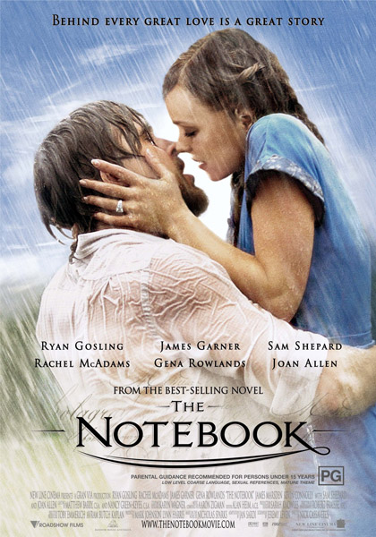 The Notebook  (PG) - 7:30pm  Thursday 14 February