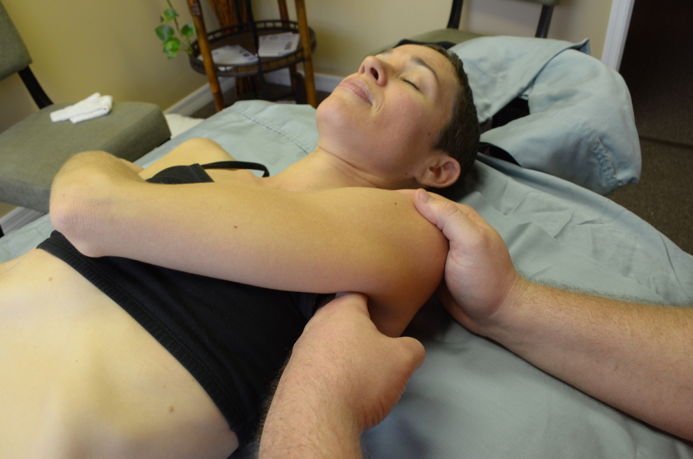 Subscapularis Release.  Freeing up the shoulder for more movement and less pain.  deep tissue and injury specific massage technique from orlando to Daytona Beach, Florida