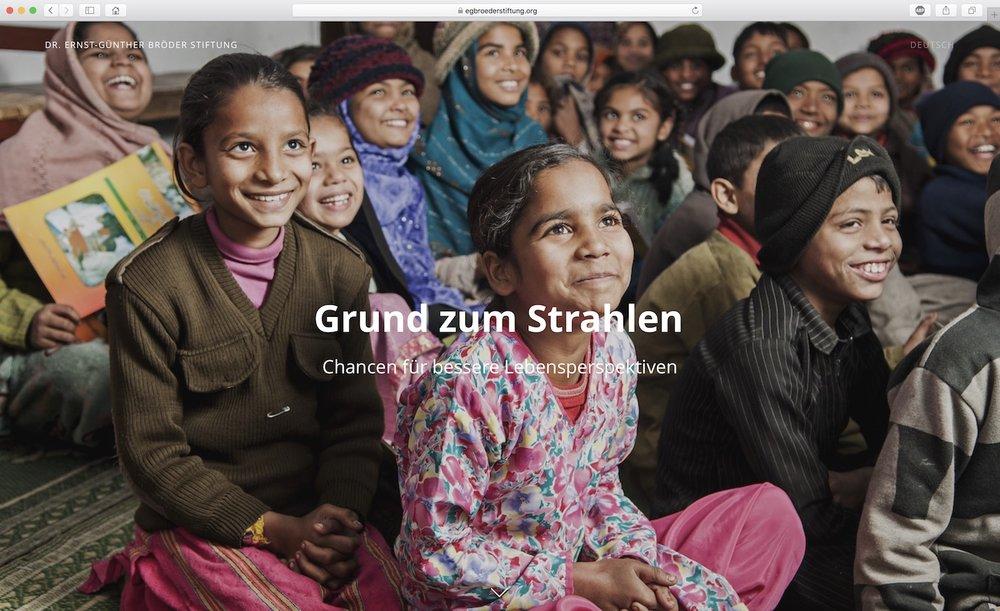 Dr. Ernst-Günther Bröder Stiftung - Grund zum Strahlen | egbroederstiftung.ch