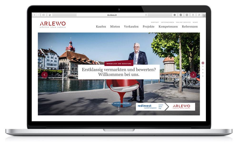 Arlewo Webseite
