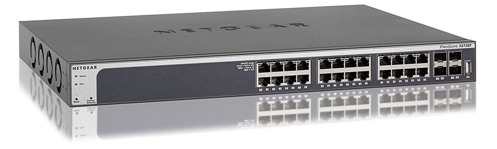Netgear XS728T, 10 GbE Smart-Switch.