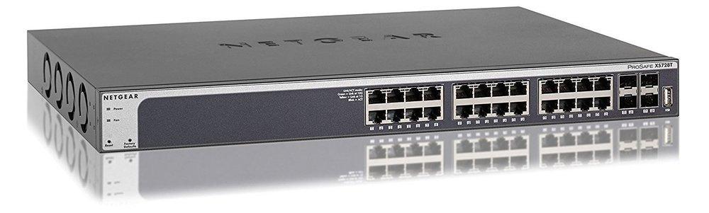 Netgear XS728T, 10 GbE Smart-Switch.
